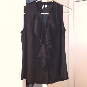 Cato size small black button up tank